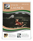 Soccer player hits the ball in the fall Flyer Templates