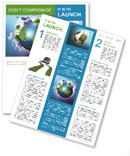 The concept of a green planet preserve nature Newsletter Template