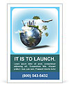Land with the tourism map Ad Template