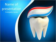 Toothpaste on tooth PowerPoint Templates