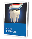 Toothpaste on tooth Presentation Folder