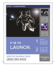 Astronaut performs work in space Poster Template