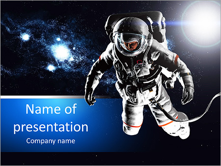 Astronaut performs work in space powerpoint template backgrounds astronaut performs work in space powerpoint templates toneelgroepblik Images