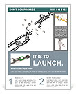Broken chain as a symbol of liberation against the gray background Flyer Templates