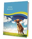 La vache sur une pelouse verte Prospectus de présentation