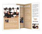 Men are engaged with the rod in the gym Brochure Templates