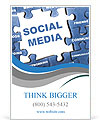 Social media blue puzzle Ad Template