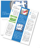 Social media blue puzzle Newsletter Template