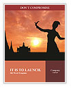 The shadow of a girl dancing in the sunset Word Templates