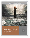 Storm on the sea and the lighthouse on the main terms Word Templates