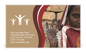 Indian woman Business Card Template