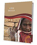 Indian woman Presentation Folder