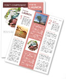 The green and red part of the planet Newsletter Templates