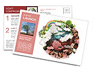 The green and red part of the planet Postcard Templates