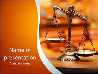 Libra as a symbol of justice and balance PowerPoint Template
