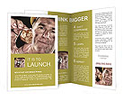 Image of natural gold with gold miner Brochure Template