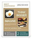 Scrambled eggs Flyer Templates