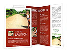 Beautiful girl hitchhiking Brochure Templates