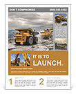 Construction machinery in action Flyer Templates