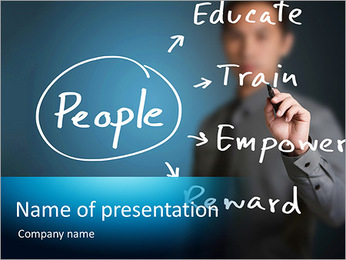 Management of human development PowerPoint Template