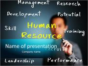 Human resource begrip Sjablonen PowerPoint presentaties