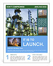 Petrochemical plant Flyer Templates