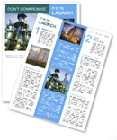 Petrochemical plant Newsletter Template