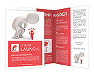 Large and small 3d person Brochure Templates
