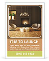 Modern design with fireplace Ad Template
