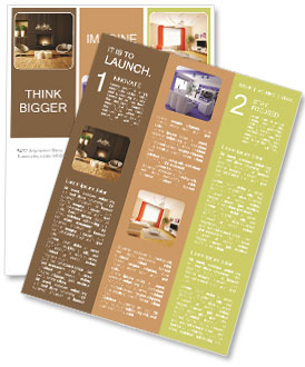 modern design with fireplace newsletter template design id