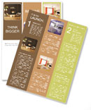 Modern design with fireplace Newsletter Template