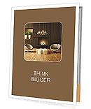 Modern design with fireplace Presentation Folder