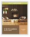 Modern design with fireplace Word Template