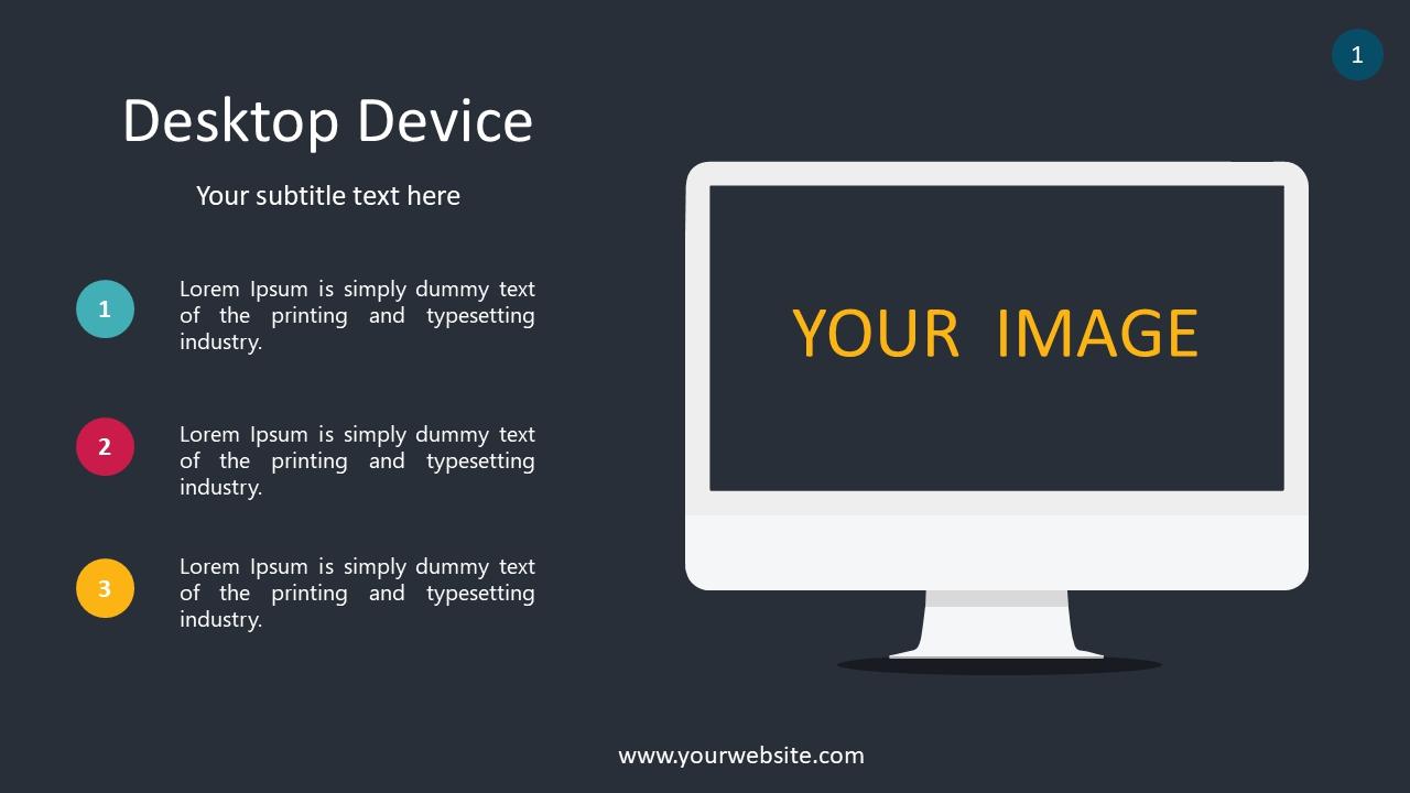 Desktop Device PowerPoint Infographics