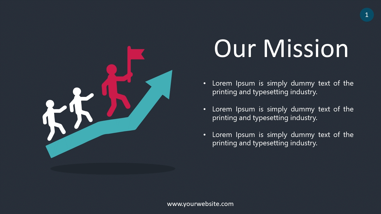 Our Mission PowerPoint Infographics