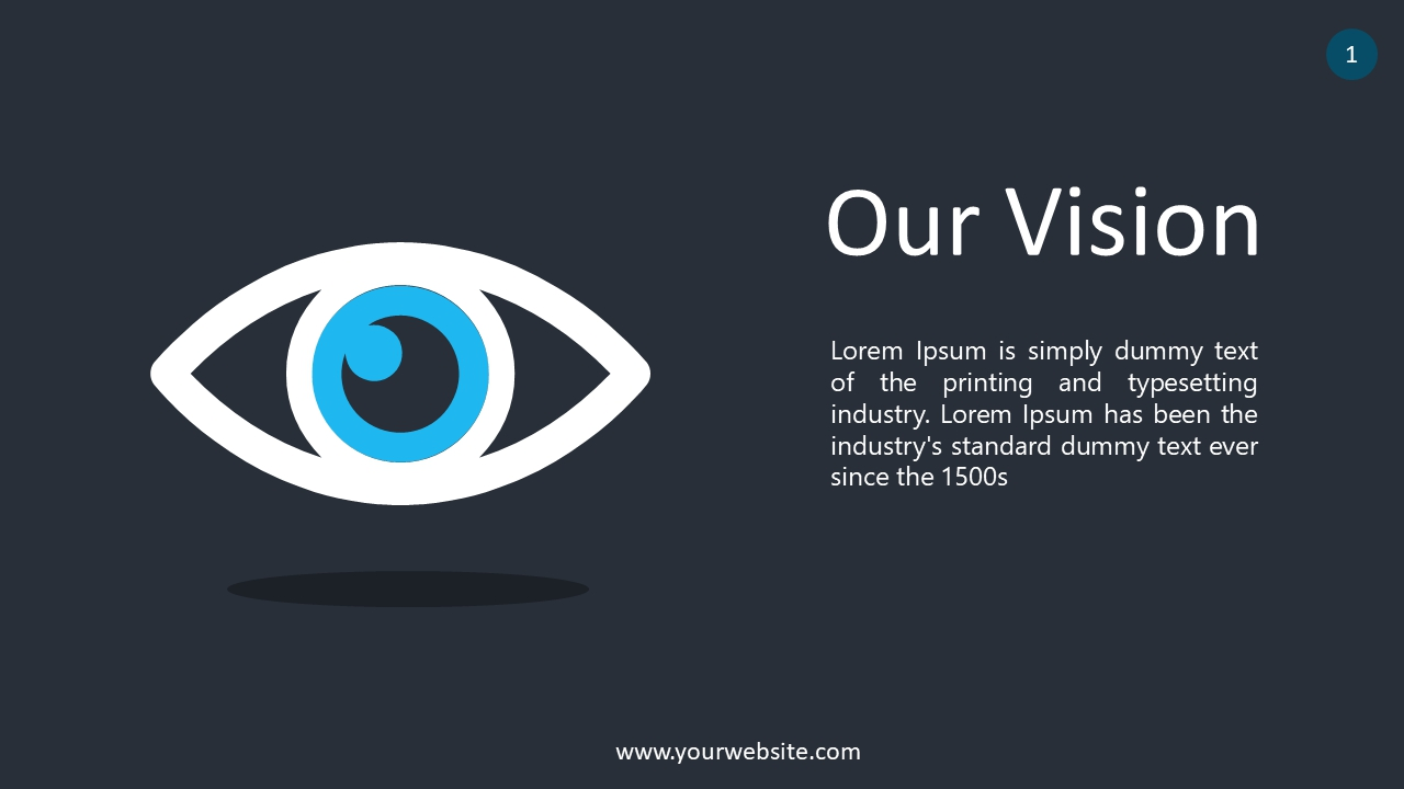 Our Vision PowerPoint Infographics