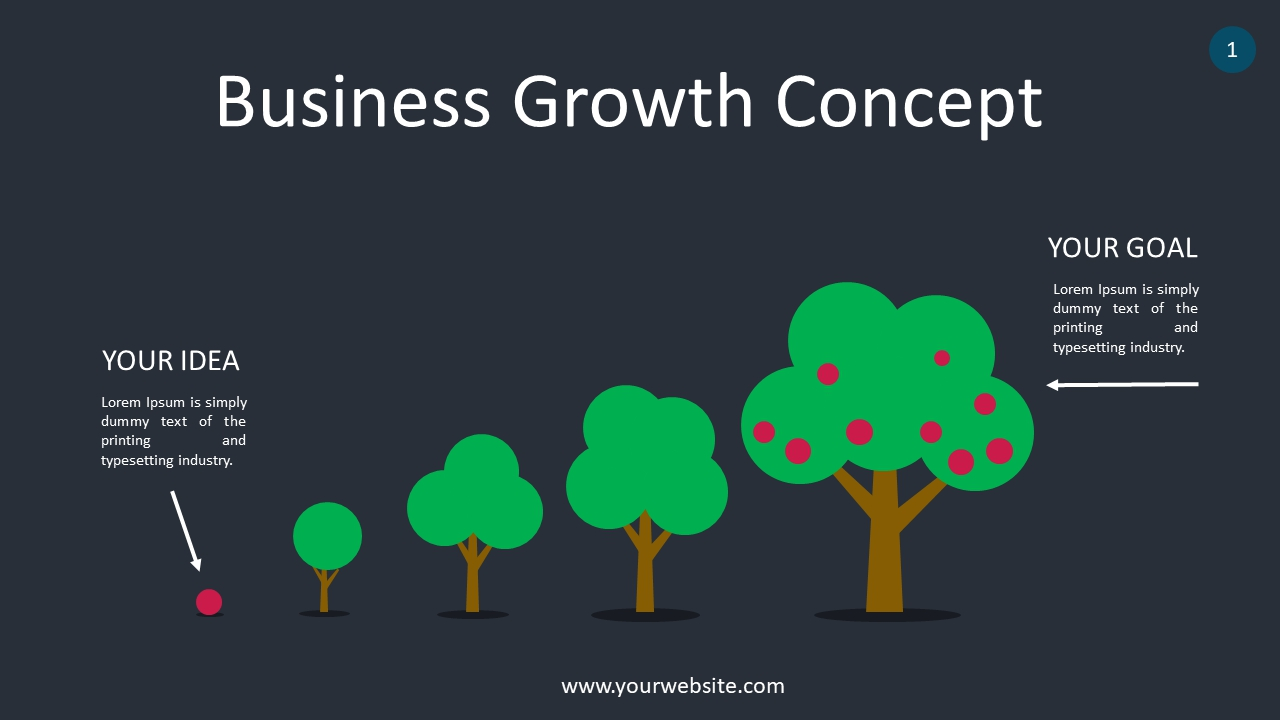 Business Growth Concept PowerPoint Infographics