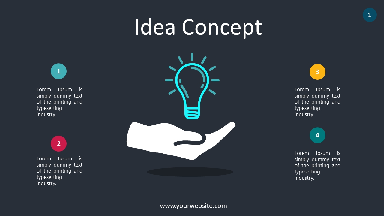 Idea Concept PowerPoint Infographics