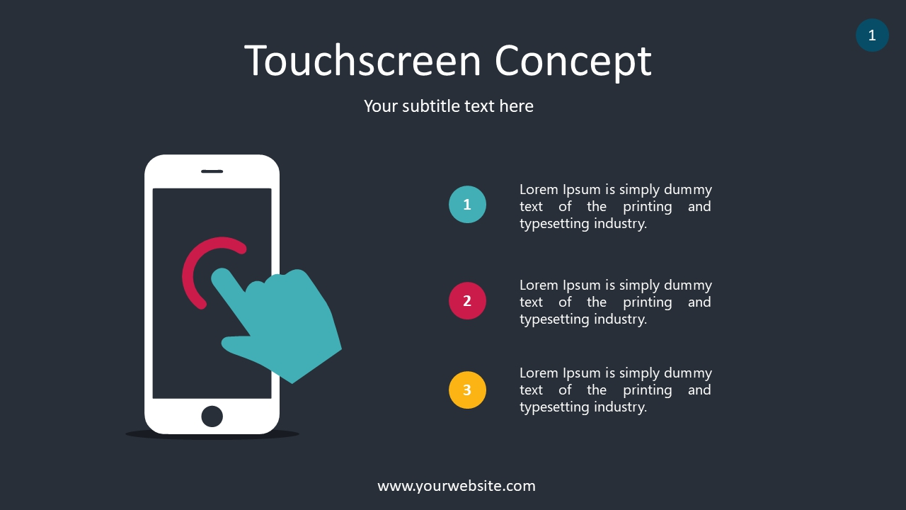 Touchscreen Concept PowerPoint Infographics