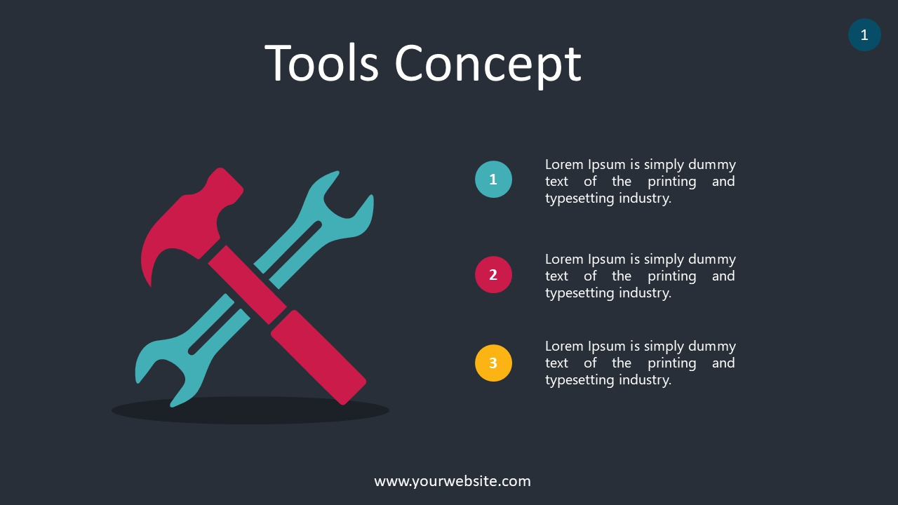 Tools Concept PowerPoint Infographics