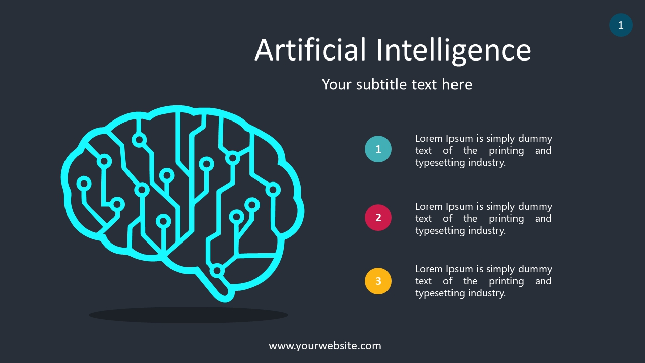 Artificial Intelligence PowerPoint Infographics
