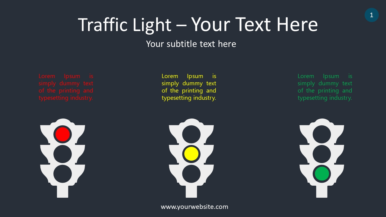 Traffic Light PowerPoint Infographics