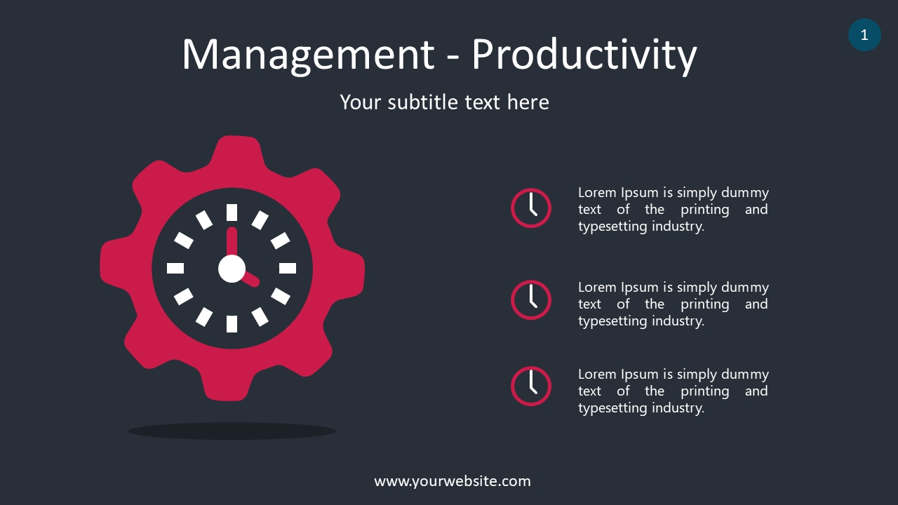 Management – Productivity PowerPoint Infographics