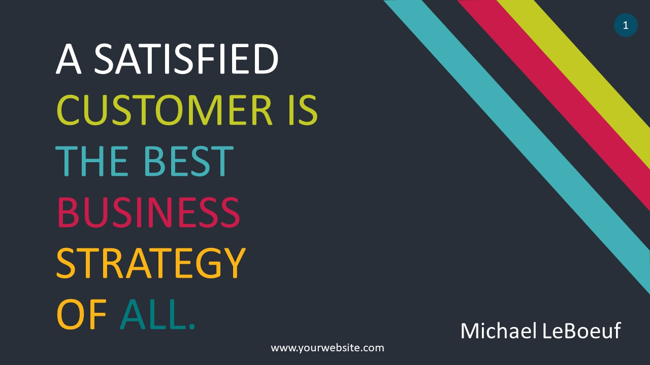 Business Strategy Quote PowerPoint Infographics