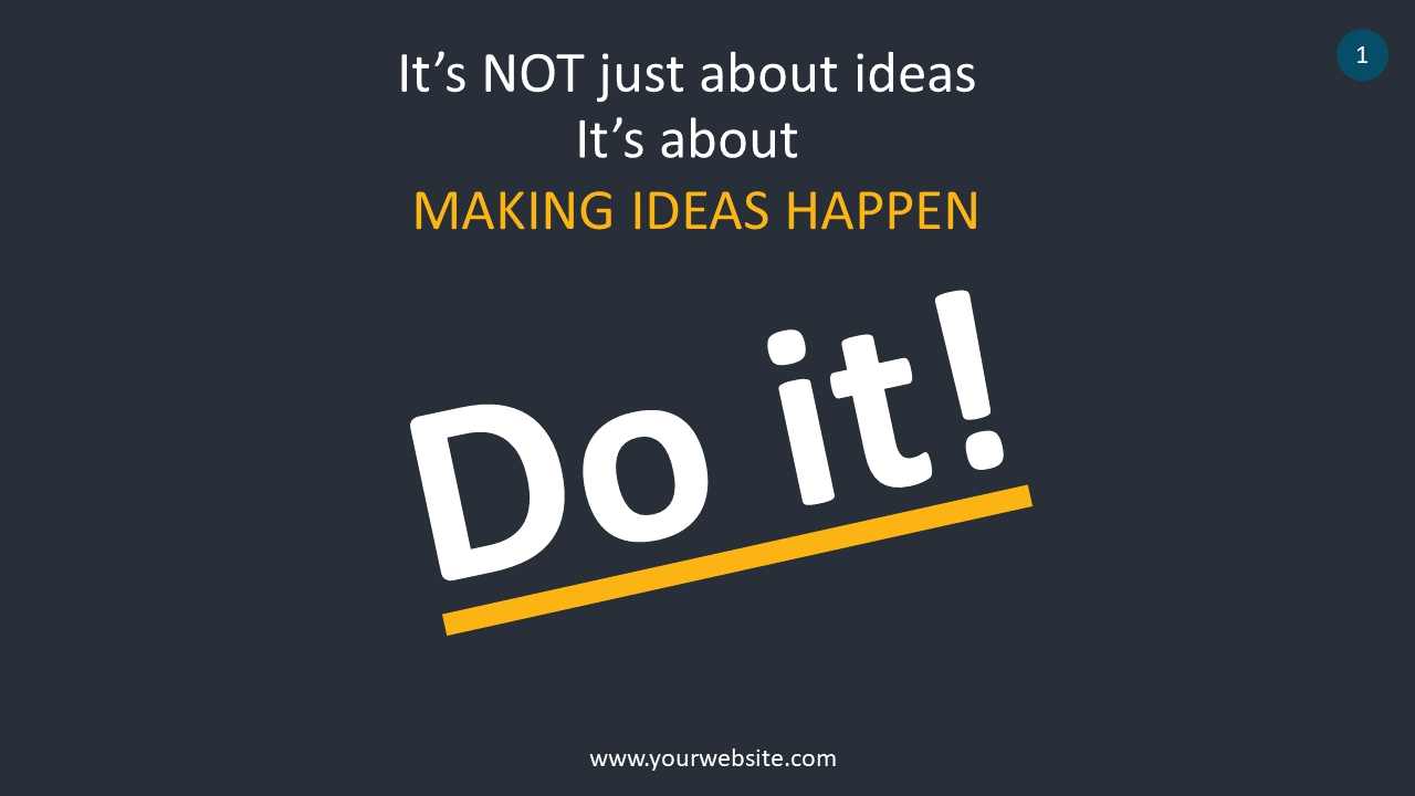 Do It! Quote PowerPoint Infographics