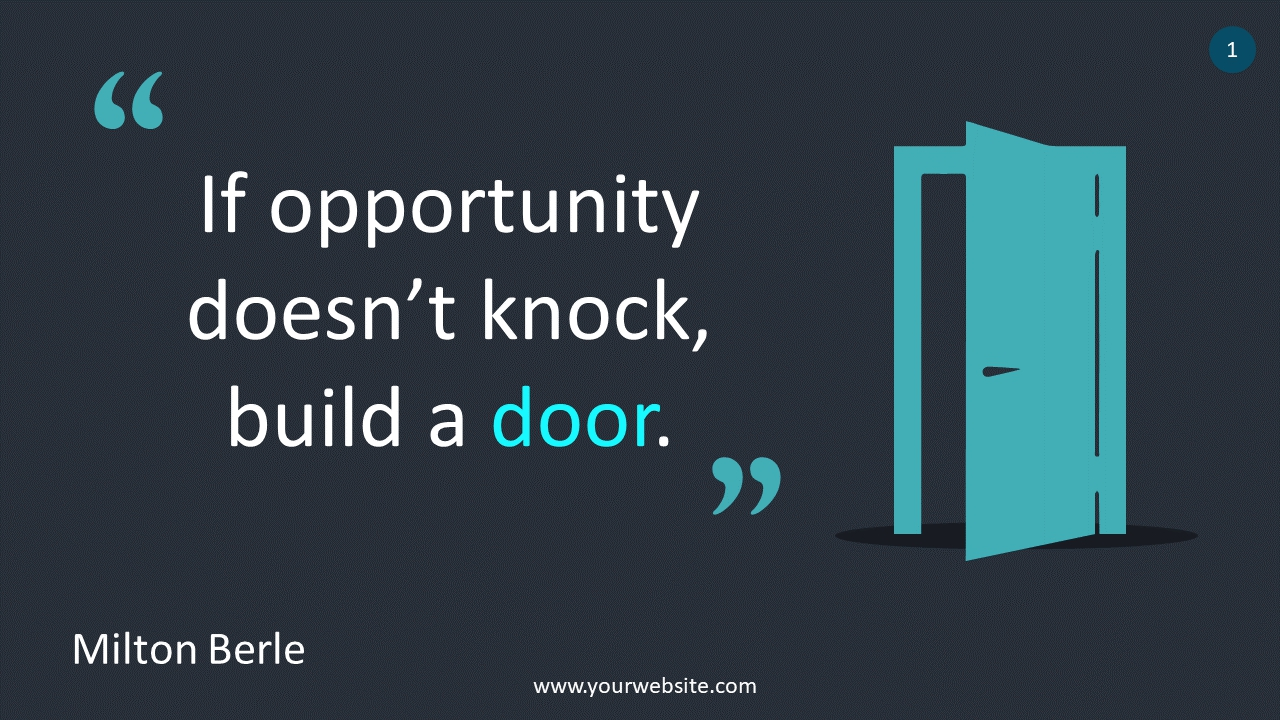 Quote About Opportunity PowerPoint Infographics