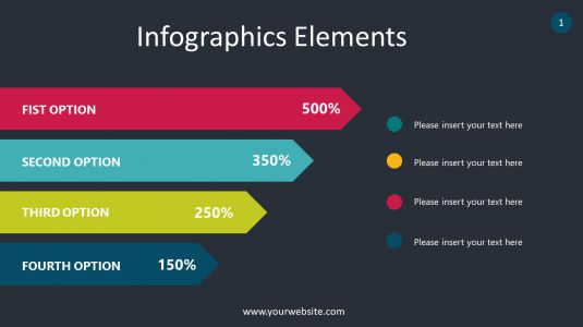 Direction Stripes Infographics Elements PowerPoint Infographics