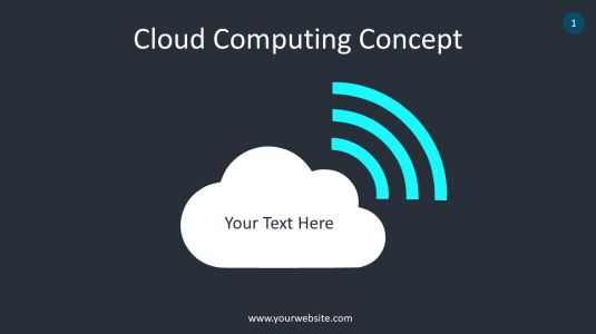 Cloud Computing Concept PowerPoint Infographics