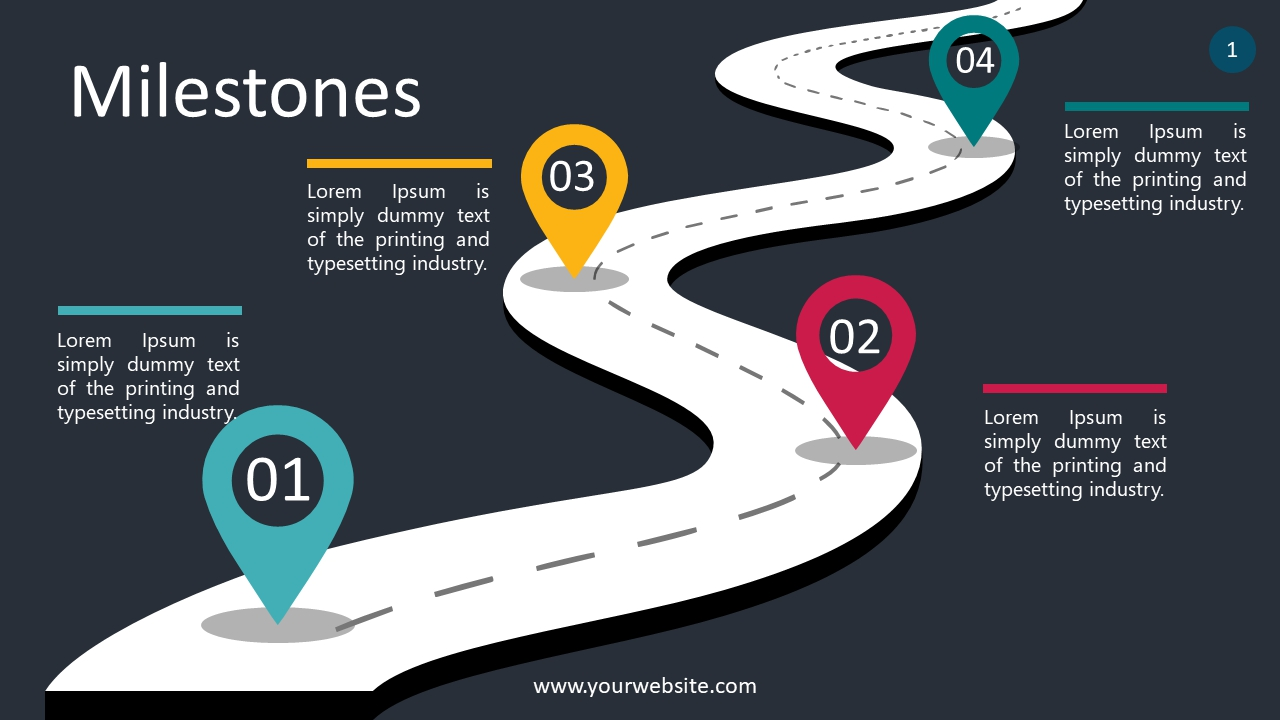 Milestones PowerPoint Infographics