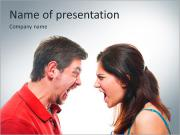 Couple angry PowerPoint Templates